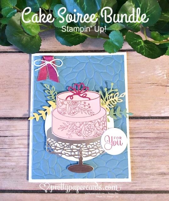 Stampin' Up! Wedding Cake Card - Peggy Noe - stampinup