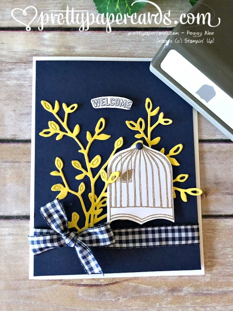 Stampin' Up! Badges & Banners Birdcage - Peggy Noe - stampinup