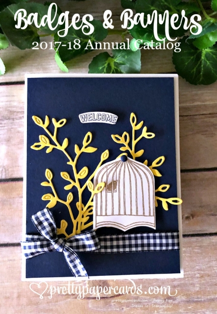 Stampin' Up! Birdcage Welcome card - Peggy Noe - stampinup