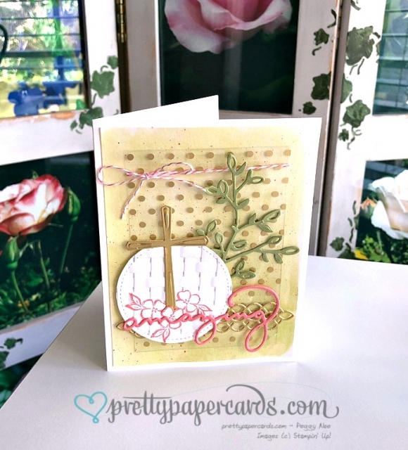 Stampin' Up! Cross of Hope Easter Card - Prettypapercards - stampinup