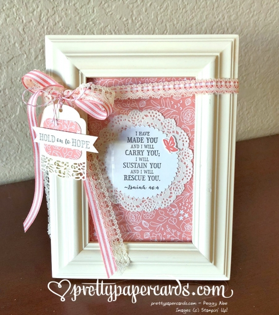 Stampin' Up! Hold on to Hope Framed Verse - Peggy Noe - stampinup