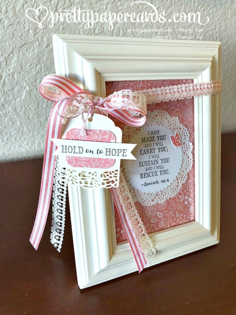 Stampin' Up! Hold on to Hope Home Project - Prettypapercards - stampinup