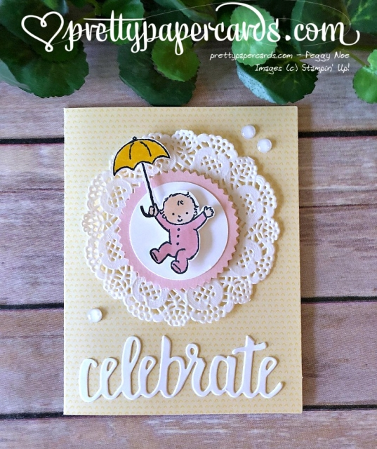 Stampin' Up! Moon Baby Card - Prettypapercards - stampinup