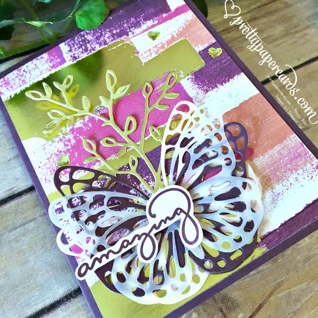 Stampin' Up! Painted With Love Butterfly - Prettypapercards - stampinup