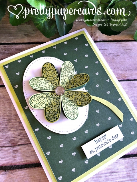 Stampin' Up! Shamrock card - Prettypapercards - stampinup