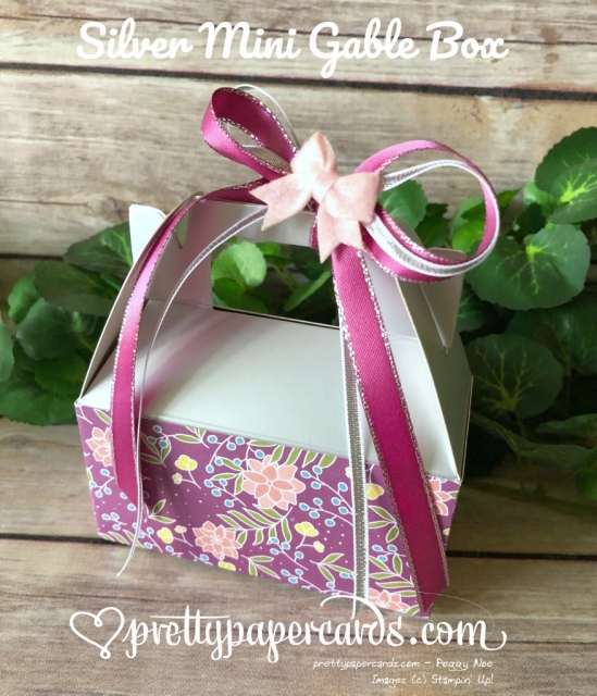 Stampin' Up! Silver Mini Gable Box - Peggy Noe - stampinup