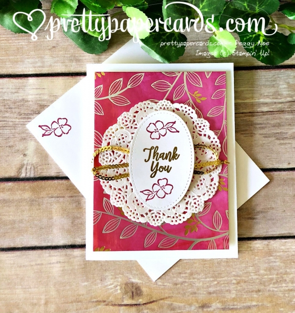 Stampin' Up! Southern Serenade Thank You Card - Peggy Noe - stampinup