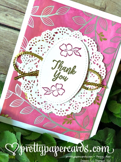 Stampin' Up! Southern Serenade Thank You Card - Prettypapercards - stampinup