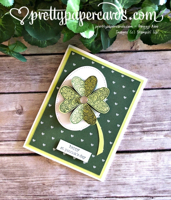 Stampin' Up! St Patrick's Day card - Prettypapercards - stampinup
