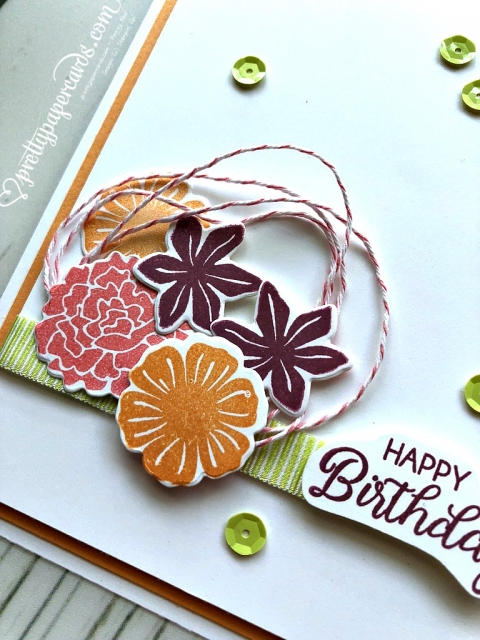 Stampin' Up! Beautiful Bouquet Happy Birthday - Prettypapercards - stampinup