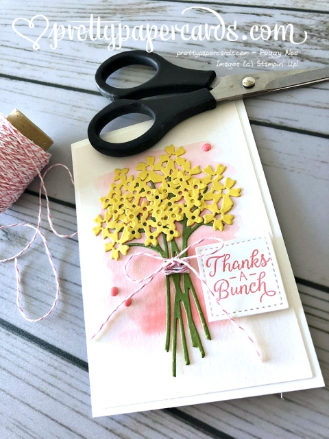 Stampin' Up! Beautiful Bouquet Thank You Card - Peggy Noe - Stampinup