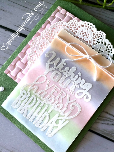 Stampin' Up! Big on Birthdays Card - Prettypapercards - stampinup