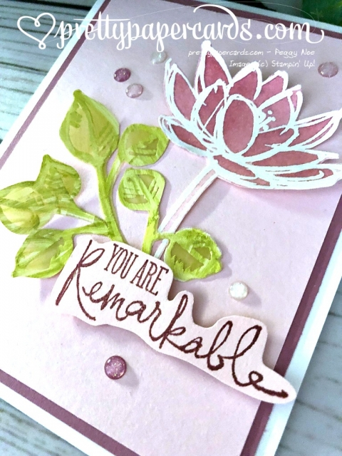 Stampin' Up! Remarkable You Card - Prettypapercards - stampinup