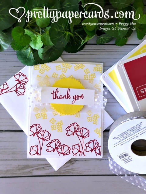 Stampin' Up! Share What You Love Tic Tac Toe - Peggy Noe - stampinup