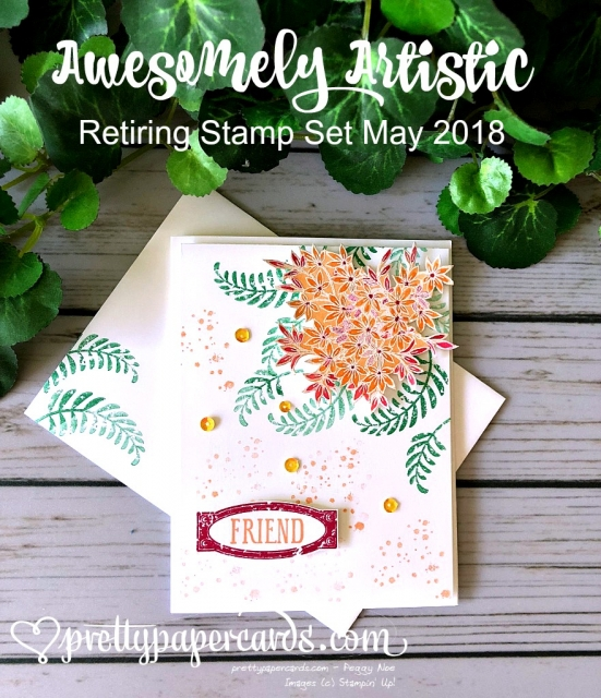 Stampin' Up! Awesomely Artistic Card - Pretty Paper Cards - stampinup
