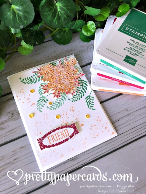 Stampin' Up! Awesomely Artistic Friend Card - Peggy Noe - stampinup