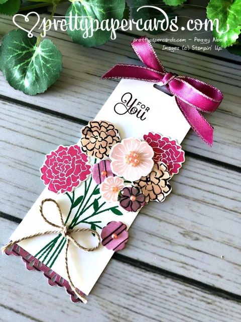 Stampin' Up! Beautiful Bouquet Tag - Peggy Noe - stampinup