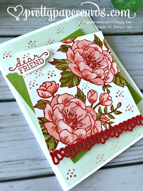 Stampin' Up! Birthday Blooms Card - Peggy Noe - stampinup