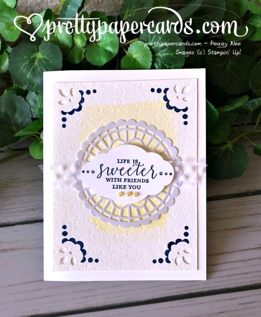 Stampin' Up! Detailed With Love Card - Peggy Noe - stampinup