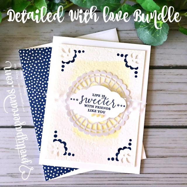 Stampin' Up! Detailed With Love Card - Pretty Paper Card - Pretty Paper Cards - stampinup