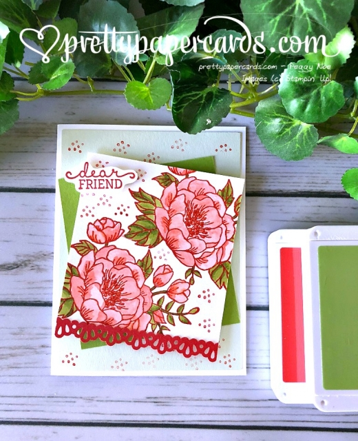 Stampin' Up! Friend Card - Peggy Noe - stampinup