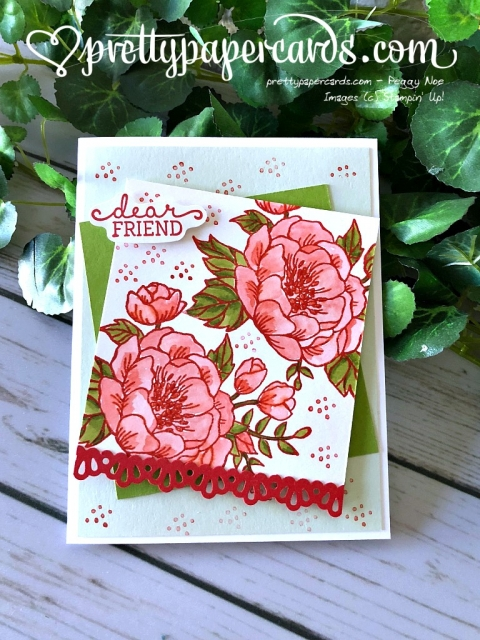 Stampin' Up! Friend Card - Pretty Paper Cards - stampinup