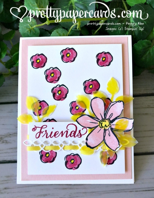 Stampin' Up! Garden in Bloom Friends Card - Prettypapercards - stampinup