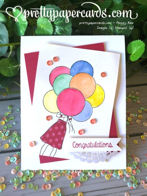 Stampin' Up! Hand Delivered Congratulations Card - Peggy Noe - stampinup