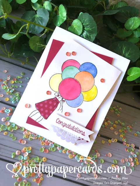 Stampin' Up! Hand Delivered Congratulations Card - Prettypapercards - stampinup