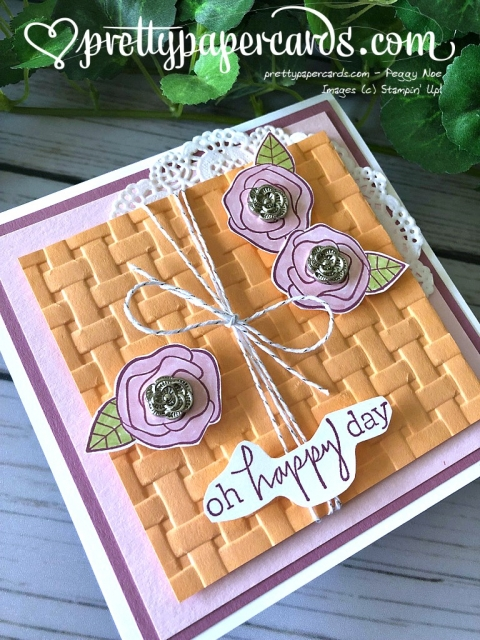 Stampin' Up! Happiest of Days Card - Peggy Noe - stampinup