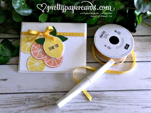 Stampin' Up! Lemon Zest Thank You - Peggy Noe - stampinup