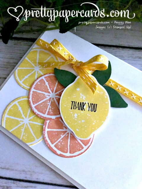 Stampin' Up! Lemon Zest - prettypapercards - stampinup