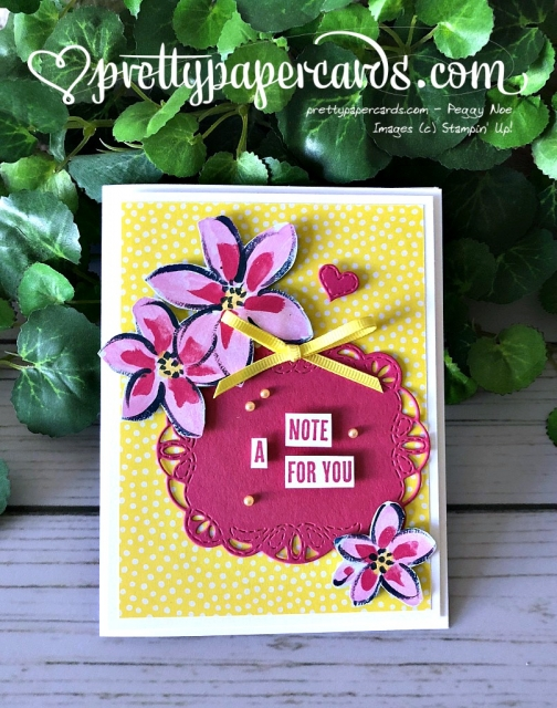 Stampin' Up! Stitched Labels Framelits - Pretty Paper Cards - stampinup