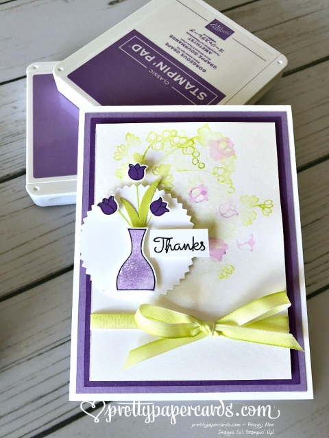 Stampin' Up! Varied Vases Thanks - Prettypapercards - stampinup