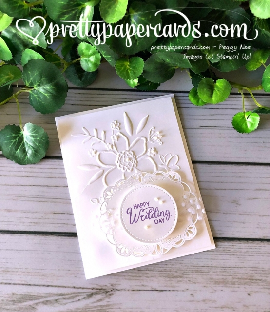Stampin' Up! Wedding Card - Peggy Noe - Stampinup