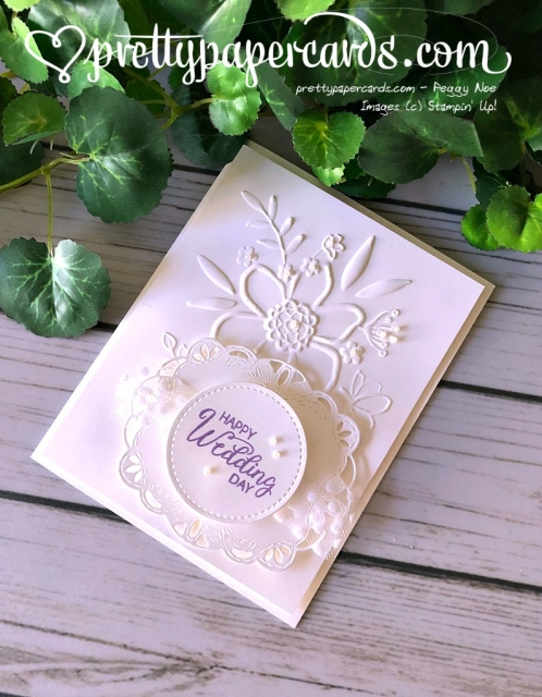 Stampin' Up! Wedding Card - Pretty Paper Cards - stampinup