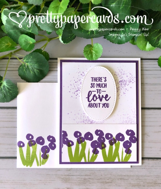 Stampin' Up! Abstract Impressions Flower Card - Peggy Noe - Stampinup