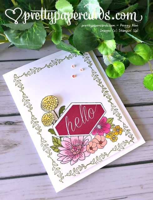 Stampin' Up! Accented Blooms Hello - Pretty Paper Cards - stampinup
