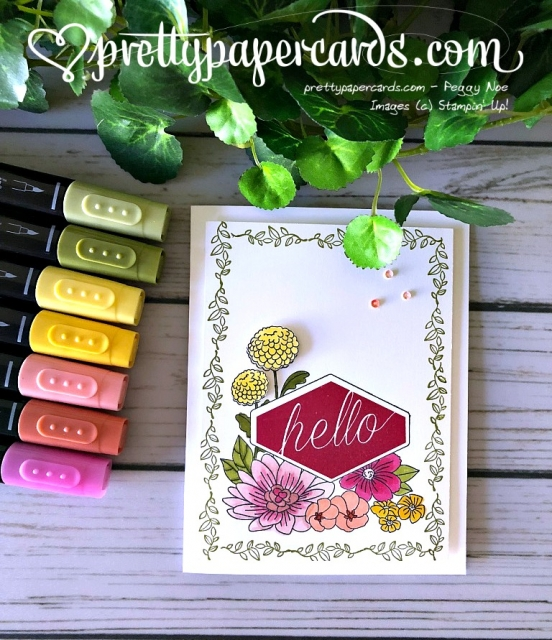 Stampin' Up! Accented Blooms - Peggy Noe - stampinup