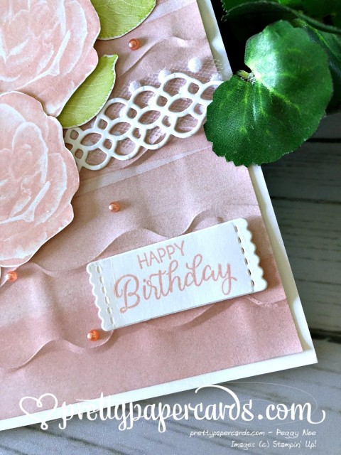 Stampin' Up! Happy Birthday Card - Pretty Paper Cards - stampinup