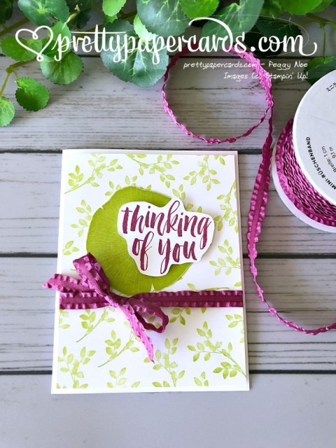 Stampin' Up! Rooted in Nature card - Pretty Paper Cards - stampinup