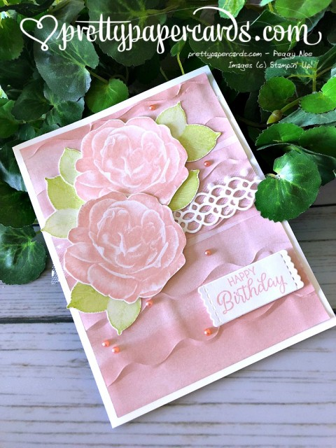 Stampin' Up! Ruffled Birthday Card - Peggy Noe - stampinup