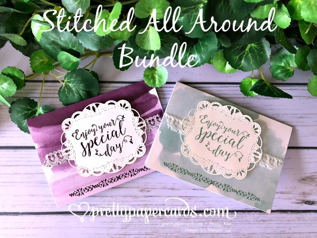 Stampin' Up! Stitched All Around Bundle - Pretty Paper Cards - stampinup