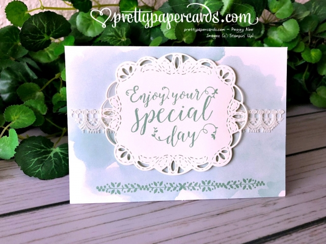 Stampin' Up! Stitched All Around - Pretty Paper Cards - stampinup