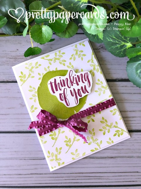 Stampin' Up! Thinking of You Card - Peggy Noe - stampinup