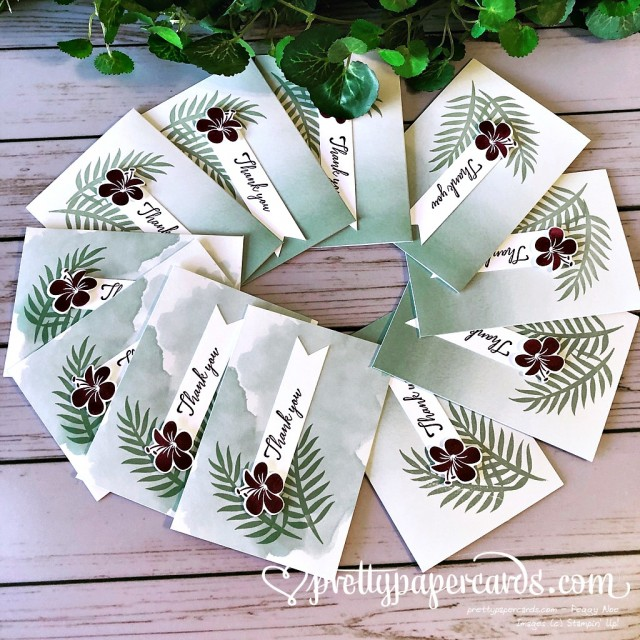 Stampin' Up! Tropical Chic Notecards - Prettypapercards - stampinup