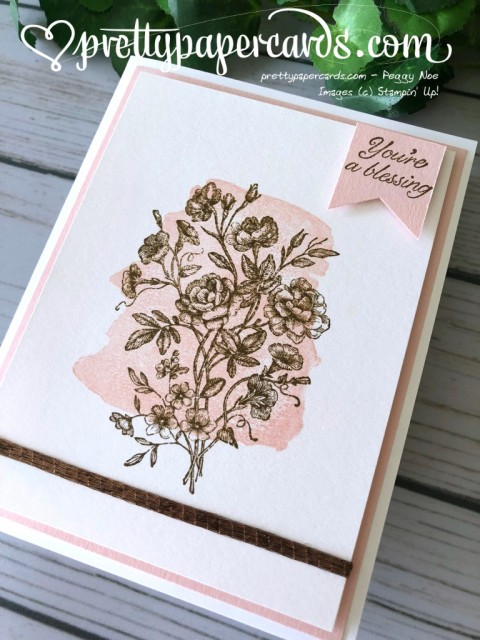 Stampin' Up! Very Vintage Card - Pretty Paper Cards - stampinup