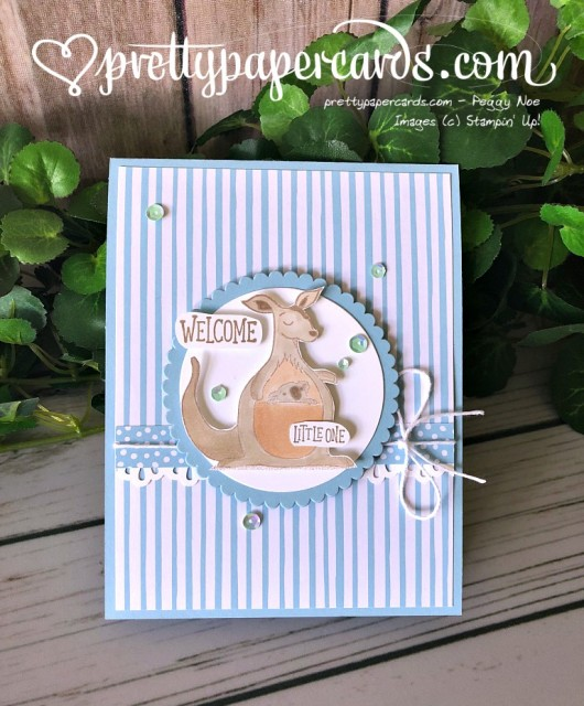 Stampin' Up! Animal Outing Baby Card - Peggy Noe - stampinup