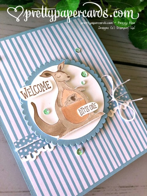 Stampin' Up! Animal Outing Baby Card - Prettypaprcards - stampinup