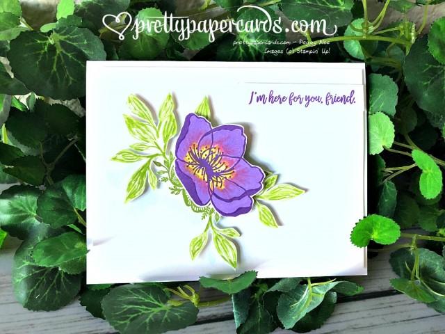 Stampin' Up! Beautiful Promenade Card - Prettypapercards - stampinup